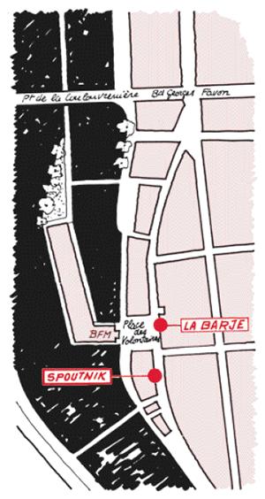 carte accès LaBarje + Spoutnik